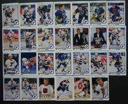 1990-91 Upper Deck UD St. Louis Blues Team Set 27 Hockey Cards - $8.00