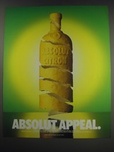 1991 Absolut Vodka Ad - Absolut Appeal - $14.99