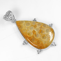 925 Sterling Silver Jewelry Handmade Gemstone Top Quality Fossil Pendant - $12.99