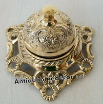 Brass service bell counter call office vintage hotel motel table top dec... - $39.59