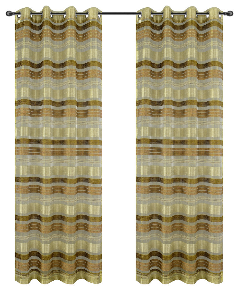 Becca Drapery Curtain Panels with Grommets image 13