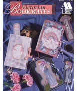 Victorian Bookmates Lady Fan Cat Rose Floral Plastic Canvas PATTERN/INST... - $3.39