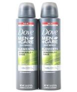 2 Dove Men+Care Dry Spray Elements Minerals + Sage 48h Antiperspirant 3.... - $21.99