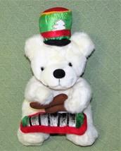 "CHOSUN Vintage Teddy Bear MARCHING BAND XylophoneWHite 12"" Chriistmas P... - $9.50"