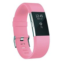 2 Pack Zodaca Wristband w/Metal Buckle Clasp For Fitbit Charge 2 Light Pink - $444,73 MXN