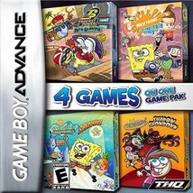 4 Games On One Game Pack Nickelodeon (Nintendo Game Boy Advance, 2007) - $6.81