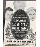 "Add Sheet "" The Spirit Of Notre Dame"" R-K-O Kenmore - $14.03"