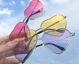 Women Retro Sunglasses Fashion Heart Shaped Glasses Vintage Women Metal Eyewear