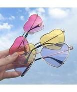Women Retro Sunglasses Fashion Heart Shaped Glasses Vintage Women Metal ... - $6.72+