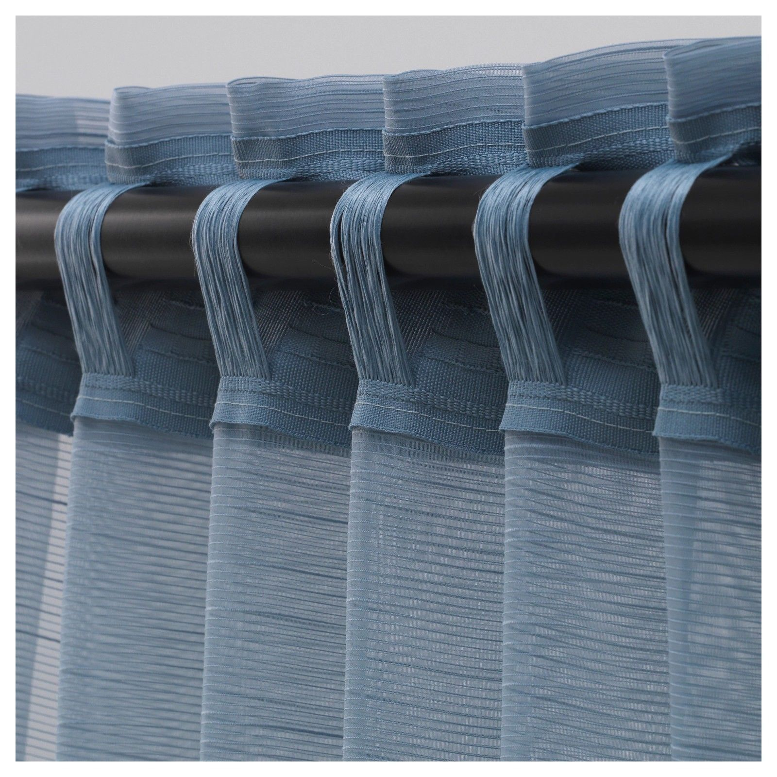 GJERTRUD Sheer curtains, 1 pair, grey-blue
