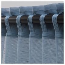 GJERTRUD Sheer curtains, 1 pair, grey-blue image 2