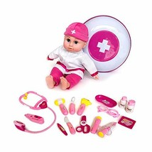 Joy Joy Toy Pretend & Play Doctor Medical KIt with Doll for Kids, 17 Piece Set P