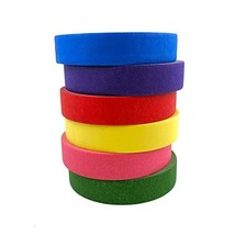 JumpyFire 6 Rolls Multi Colored Masking Tape 396 Feet Length in Total, D... - $15.36