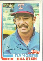 1982 Topps Bill Stein #402 Texas Rangers Baseball Card - $1.97