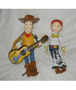 """TOY STORY 2 STRUMMIN SINGING WOODY WITH GUITAR & 15"""" PULL STRING JESSIE ... - $56.42"""