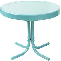 Crosley Furniture Gracie Retro 20-inch Metal Outdoor Side Table - Caribb... - $36.70