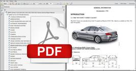 Bmw 5 Series 2011 2012 2013 2014 2015 F10 Maintenance Manual + Wiring Diagram - $14.95