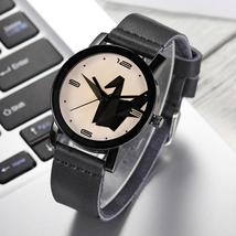 DISU MenWatch Paper Crane Leather Band Analog Alloy Quartz watch man vin... - $5.30 CAD