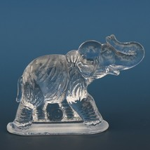 Vintage Smith Glass Miniature Crystal Elephant image 2