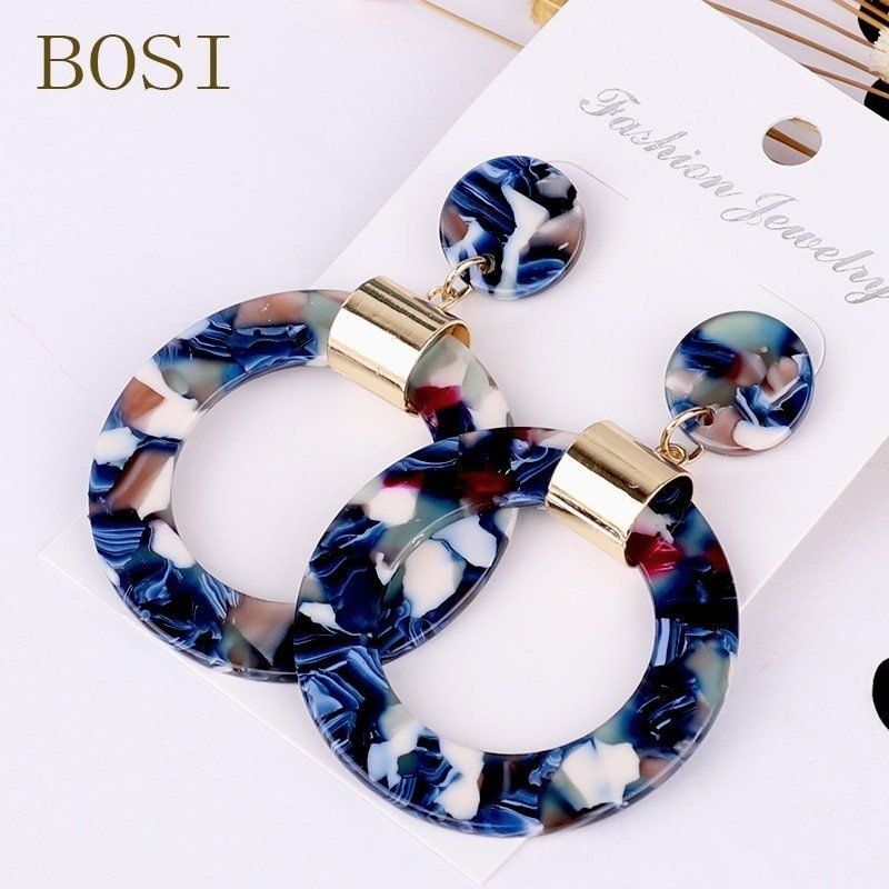 Primary image for Earrings For Women Acrylic Boho 2020 Acetate Dangle Drop Earings Fashion Big Boh