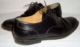 Cole Haan Black Leather Cap Toe Oxfords 8.5 Lace Up Shoes Style Number C... - $39.95