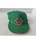 New York Yankees Fitted Cap Hat New Era Green Woven MLB Authentic 7 1/8 - $17.78
