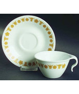 1970's Vintage Flat Cup & Saucer Set in Butterfly Gold (Corelle) by Corning - $24.99