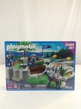New 2010 Playmobil 4014 Super Set 86 Piece Knight's Fort Building Toy Pl... - $39.26