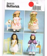 "Butterick 6035 1800's Style Wardrobe for 18"" Doll Sewing Pattern - $8.00"