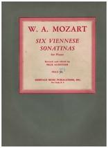 Music~Song Book~W.A. Mozart ~ Six Viennese Sonatinas ~ Piano ~ 1943 ~ Gu... - $10.84