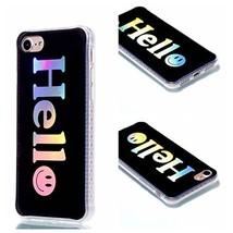 iPhone 7 Case,iPhone 8 Case,XYX [Hello] Colorful plating Transparent Sli... - $3.95