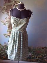 Ann Taylor Loft Dress Women Green Floral Cotton Spaghetti Strap  Dress Size 4 - $29.65