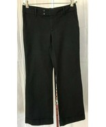 Banana Republic Womens Jackson Fit Black Cuffed Wide Leg Boot Pants 10 R  - $11.95