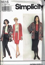 Misses' Long Cardigan & Pull On Pants Or Skirt Sewing Pattern - Simplici... - $9.00
