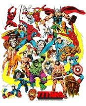 "Marvel Comics ""TITANS"" 24 X 30 Inch Reproduction Poster - Superhero - $45.00"