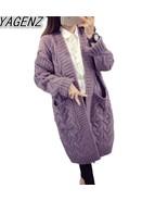 "YAGENZ Women""s Sweater Long Cardigan 2017 Autumn Winter Loose Sweater Wo... - €46,51 EUR"