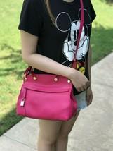 NWT FURLA Piper leather MEDIUM Handbag  CLOSE BODY SATCHEL PINK/YELLOW - $199.99