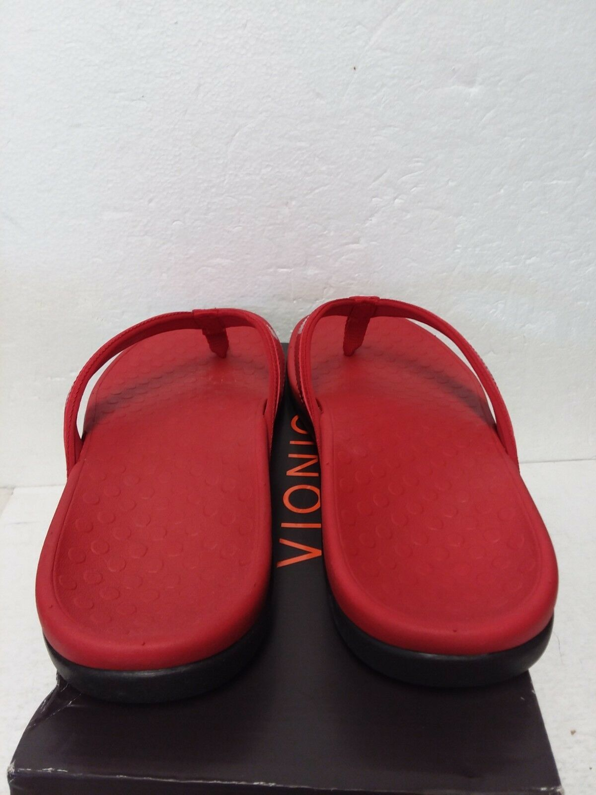 Vionic Womens Tide II Sandals, Lightweight Flexible Durable, Orthaheel Red 11