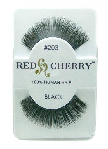 54d618e6cbe S l1600. S l1600. Previous. NIB~ Red Cherry False Eyelashes Fake Lashes  Strip Black Human Hair YOU CHOOSE