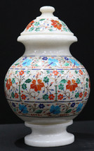 Flower Decorative Marble Inlay Flower Pot for Home and Office Decor, Cen... - $1,500.00