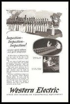 Candlestick Telephones 1925 Photo Ad Inspection Like West Point Cadets - $12.99