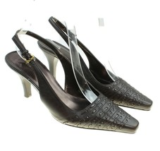 Worthington Womens Brown Leather Slingback Heels Pumps Size 6 M - $18.80