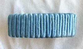 Elegant Revlon Blue Silky Cord Wrapped Hair Clip Barrette 1970s vintage ... - $12.30