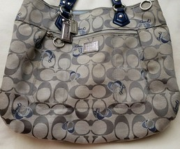 Coach Poppy Signature Hearts Glam Handbag Tote 18711 - $79.20