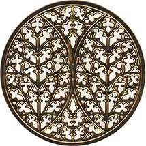 Gold Colored Lincoln Cathedral Rose Window Ornament Decoration - $14.84