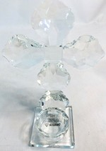 NEW Clear Crystal Glass Cross w/ Tea Light Candle Holder - $37.36