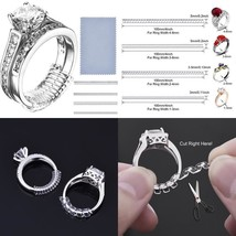 Ring Size Adjuster 16 Invisible Clear Ring Sizer Jewelry Fit Reducer Gua... - $7.85