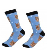 Orange Tabby Cat Socks Unisex Dog Cotton/Poly One size fits most - $11.99
