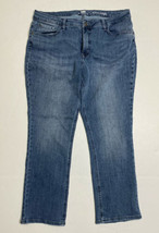 Lee Riders Womens Size 34 X 28 Midrise Straight Medium Wash Distressed  - $19.80