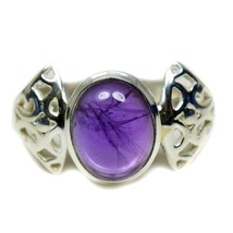 Natural Amethyst Oval Cut Solid Silver Beautiful Ring Size US 4,5,6,7,8,... - $34.35